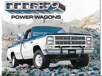 1979 Dodge Power Wagons Sales Booklet