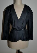 Vintage 80's MR K Pleated Peplum Evening Top