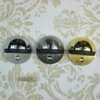 Metal Oval Door Stop Door Stopper Floor Doorstop Rubber Interior Holder Home LJ