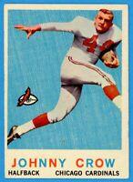 1959 TOPPS FOOTBALL #105 JOHNNY CROW (R) (EX)