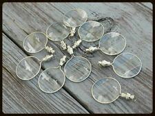 Lot 10 Magnifier Locket Necklace Style Magnifying Glass Chrome Finish Item
