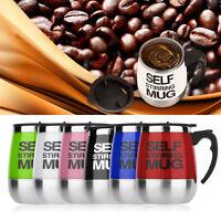 Bigger 16oz Stainless Self Stirring Mug Auto Mixing Drink Tea Coffee Cup Home