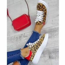 Womens Ladies Leopard Animal Oversize Sneakers Trainers Alex Designer Shoes New