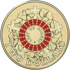 """2015 RED $2 Two Dollar Mint UNC ANZAC Day """" Lest We Forget """""""