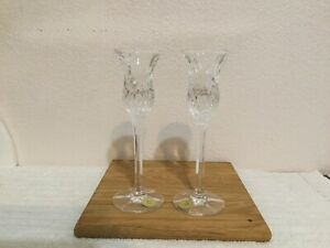 Princess House = Set Of 2 Crystal Candles Holders