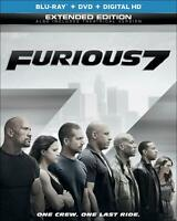 FURIOUS 7 2-DISC BLURAY DVD W/ SLIPCOVER 2013 FACTORY SEALED!