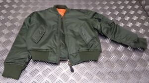 Kids Army Air Force MA1 Flight Pilot Bomber Style Childrens Flying Jacket - NEW