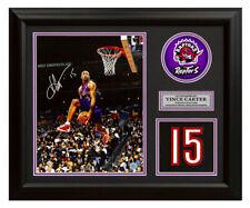 Vince Carter Toronto Raptors Autographed Slam Dunk Franchise Jersey Number 19x23