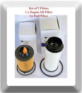 Set of 2 Pieces Oil & Fuel Filter Fits Fuso Canter FE125 FE160  FE180  FG4X4