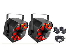 Chauvet DJ Swarm Wash FX 4-in-1 LED Effect Fixture 2-Pack w/CLP-10 Clamp New