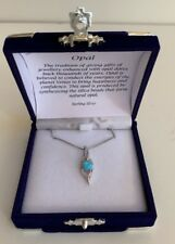 Zilver Collection Sterling Silver Necklace With Opal