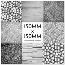 Marble Stone Slate Wood Tile Stickers Kitchen Transfers Black Grey 150mm - M20