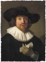 REMBRANDT VAN RIJN SELF PORTRAIT OF MAN LIMITED EDITION ART PRINT 24x33 painting