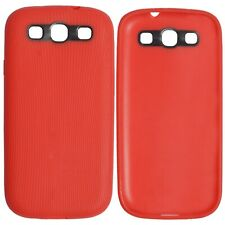 Ultra Slim Soft Silicone Full Cover TPU Luxury Case For Samsung Galaxy S3 Red UK