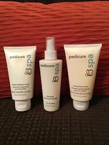 NEW BeautiControl Pedicure Spa Scrub/Salve/Spray SET! 5 OZ. each