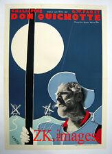 DON QUICHOTTE Pabst CHALIAPINE Affiche LABISSE 1933