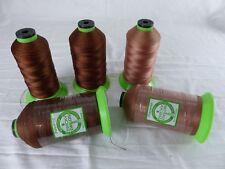 ZWICKY ZWILON lot de 5 bobines fil à coudre , 1600 mètres marron brun 1168