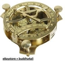 Sundial Compass  Solid Brass Sun Dial Made in India
