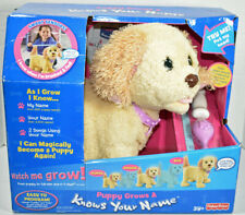 Fisher Price PUPPY GROWS AND KNOWS YOUR NAME GOLDEN RETRIEVER Interactive NEW