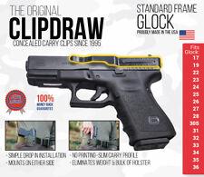 Clipdraw Belt Clip Glock Standard Frame IWB Black Ambidextrous Clip Holster