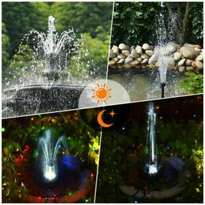 LED Solarpumpe Wasserspiel Springbrunnen Pumpe 3,5W Solar Teich Brunnen mit AKKU