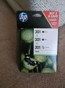 HP 301 (E5Y87EE) Tri-Colour and Black Ink Cartridge - 3 Cartridges