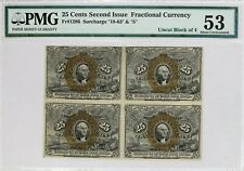 Second Issue 25C Cent Fractional Currency Pmg Cert 53 Fr#1286 About Unc (8006)