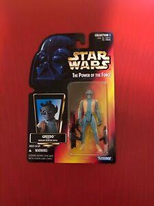 Kenner Star Wars Potf Red Card Greedo Action Figure