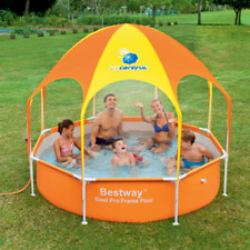 Splash-in-Shade Play Pool Above Ground Wading Pool with Sunshade 56543