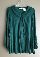 oh! mamma maternity large Green/Navy long sleeve button-down blouse