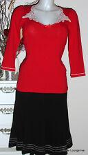 Vive Maria camicetta rosso pizzo fiocco top 3/4-Arm BOHEME rosso 28977