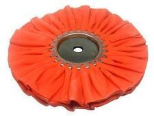 "Zephyr Orange Ruffy 8"" Cotton Airway Mill Treat 5/8"" AH Polishing Wheel AWO588CD"