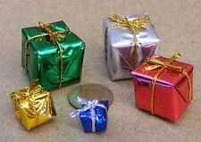 Échelle 1:12 6 mixte taille Enveloppé présente tumdee Maison de Poupées Cadeau Accessoire 1-2 cm
