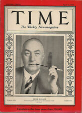 Time Magazine April 15, 1929  Edgar Wallace