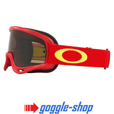 Oakley O-frame Motocross Enduro Bike MX Goggle Red Yellow W/ Smoke Lens
