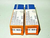 2 x ECC801S, Siemens, copper gridposts, NOS, matched, Elektronenröhren,