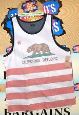 95bd5a476307b Levis Levi Strauss California Republic Flag Tank Top T-shirt Size XL