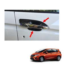 Door Handle Bowl Insert Cover Carbon Black 4 Pc Fit Honda Jazz Fit GK5 2014 - 17