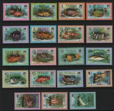 TUVALU SG 01-019  Official (T1)  Fish Ocean Marine Life 1981 Unmounted Mint MNH