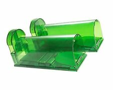 Catcha 2 Piece Humane Smart Mouse Trap Live Catch and Release Rodents, Safe A.