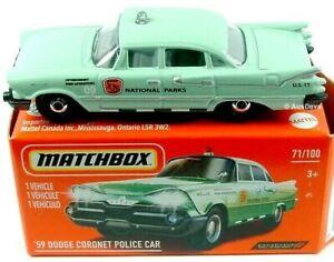 Matchbox 1959 DODGE CORONET POLICE CAR Mint in Box