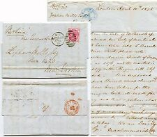 GB 1875 to USA QV 3d Pl.16 ZOPHAR MILLS LETTER via SHIP BOTHNIA +US CURRENCY PMK