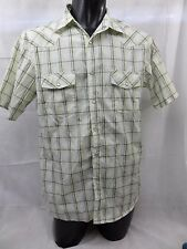 DDublee Large  Poly/Cotton Western Cowboy Shirt Pearl Snaps B419