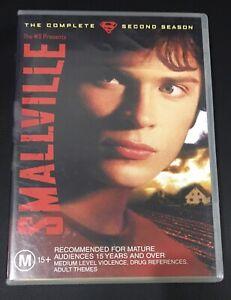 Smallville : Season 2 (2005 : 6 Disc DVD Set) Very Good Condition Region 4