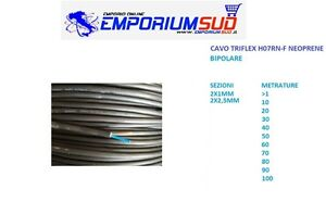 CAVO CORDINA TRIFLEX H07RNF NEOPRENE BIPOLARE 2X1MM 2X2,5MM VARIE METRATURE FILO