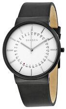 Skagen SKW6243 Ancher White Dial Black Leather Strap Men's Watch