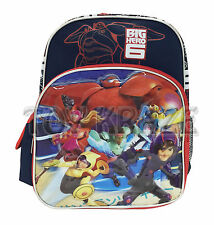 "BIG HERO 6 TODDLER BACKPACK! NAVY BLUE & RED SMALL BOYS SCHOOL BAG 12"" NWT"