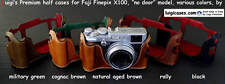 LUIGI PREMIUM CASE,to FUJI X100,X100s+STRAP+NATURAL AGED BROWN+SHIPPING,REDUCED