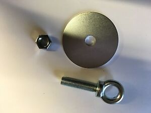 Harness eye bolt and plate for BRISCA Rally Autograss. Set of 5