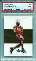 2004-05 Flair #35 LeBron James PSA 9 MINT! Low POP, 2nd Year - QTY